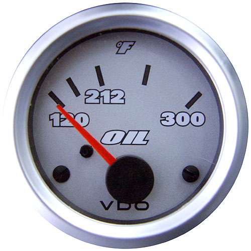 VDO Cockpit White Oil Pressure Gauge